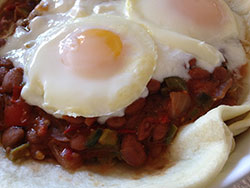 Poached Eggs Pinto Huevos