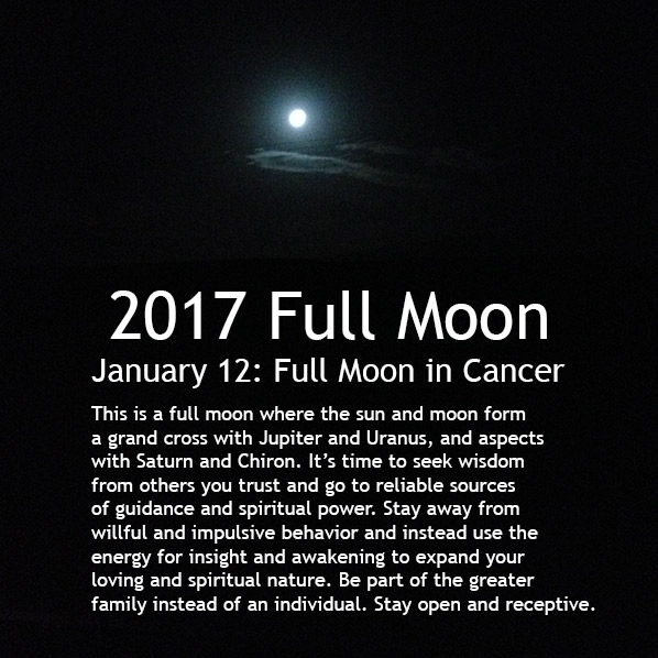 January 12 2017 Full Moon