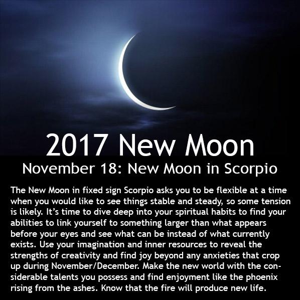 New Moon November