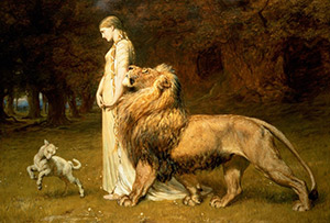 BRITON RIVIÈRE, UNA AND LION, 19th Century